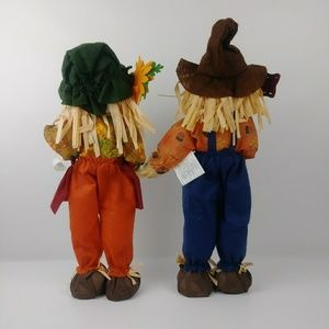 unbranded Holiday - Standing Scarecrow Boy and Girl Fall Decorations.
